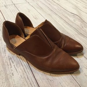 NISOLO Emma d'Orsay Brown Leather Oxfords